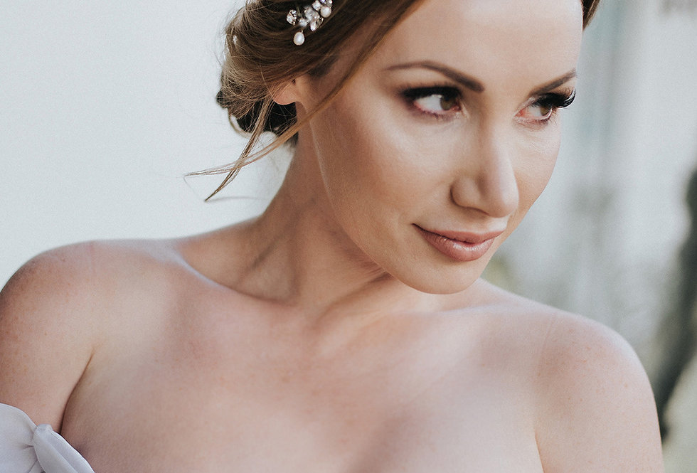 """Addison"" Bridal Hair Vine Headband"