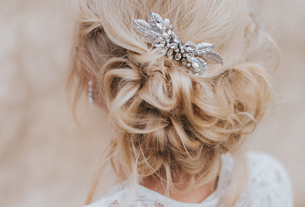 """Bailey"" Small Bridal Hair Comb"