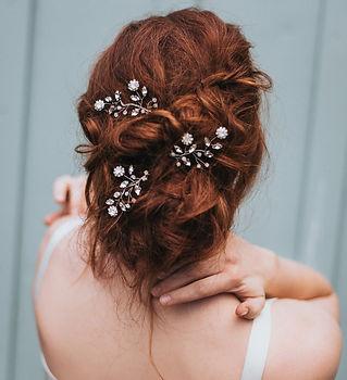 Delilah Flower Beaded Bridal Hair Pin 2-