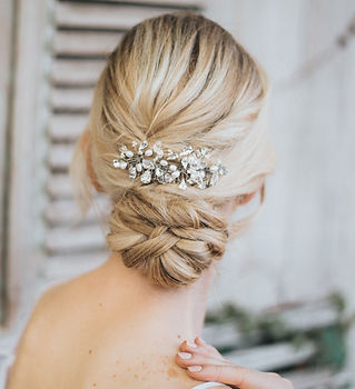 Danielle Large Beaded Bridal Hair Comb-m