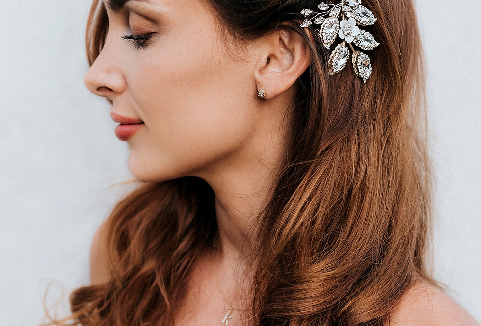 """Kimber"" Large Bridal Hair Comb"