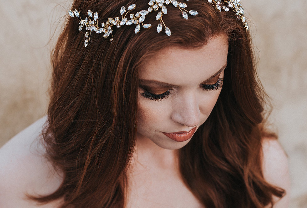 """Natalia"" Beaded Hair Vine Headband"