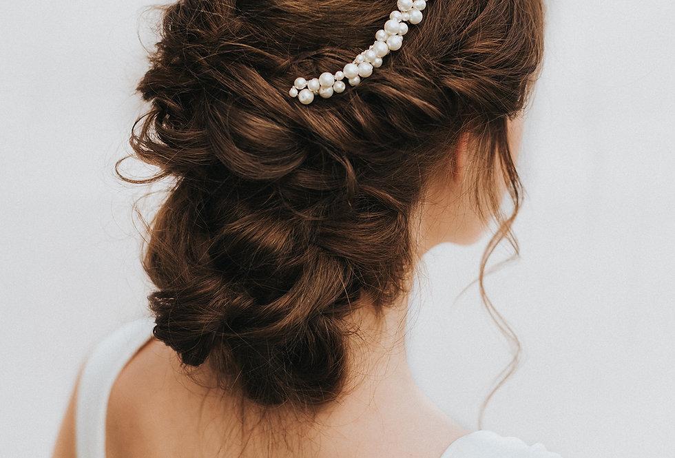 """Lustre"" Large Bridal Hair Comb"