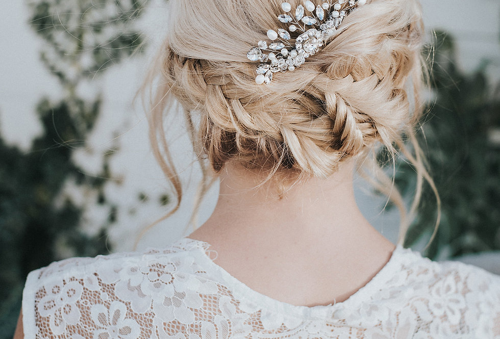 """Collette"" Small Bridal Hair Comb"
