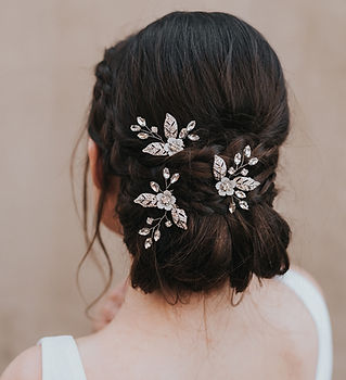 Constance Rhinestone Beaded Bridal Hair