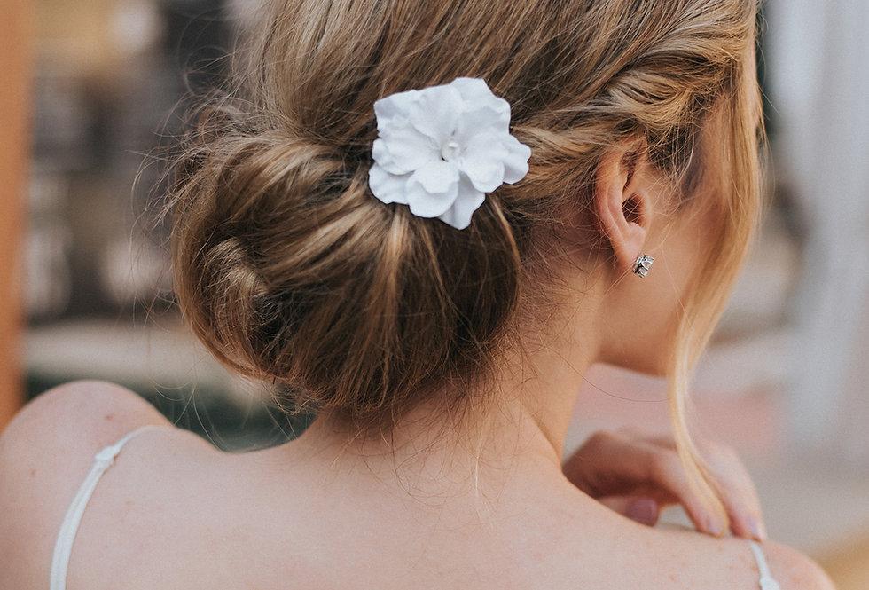 """""""Rae"""" Silk Flower Bridal Hair Pin"""