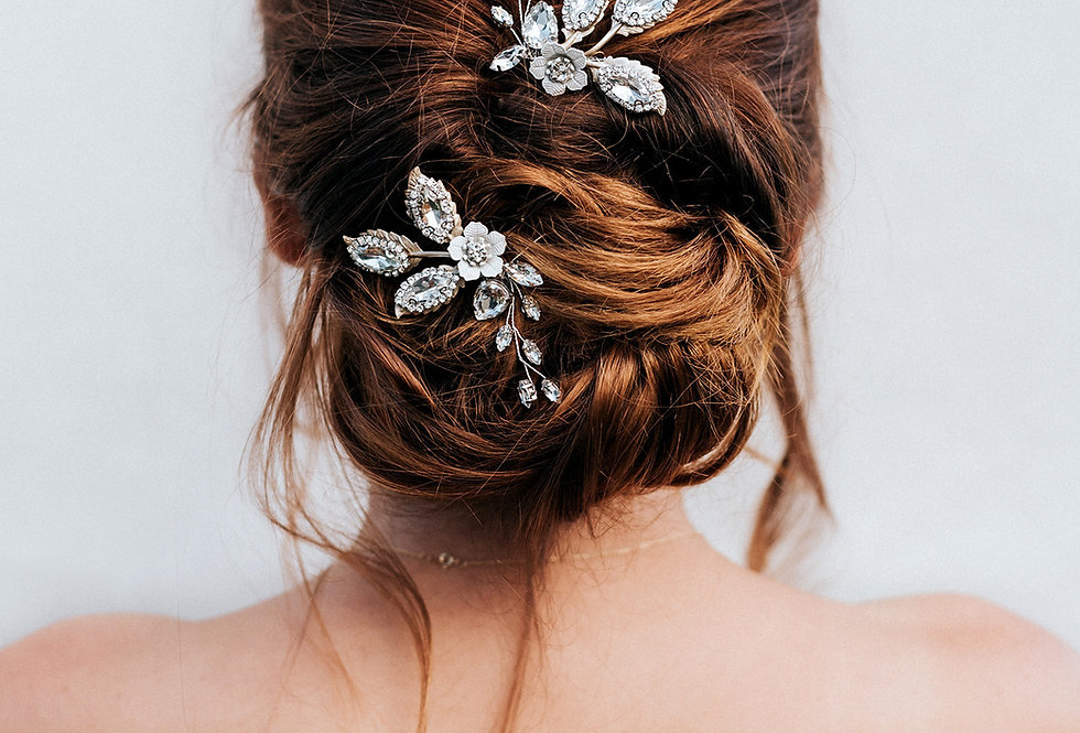 """Kimber"" Medium Bridal Hair Pins"