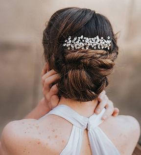 Brooklyn Rhinestone Pearl Bridal Hair Co