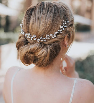 Gwen Beaded Rhinestone Pearl Bridal Hair