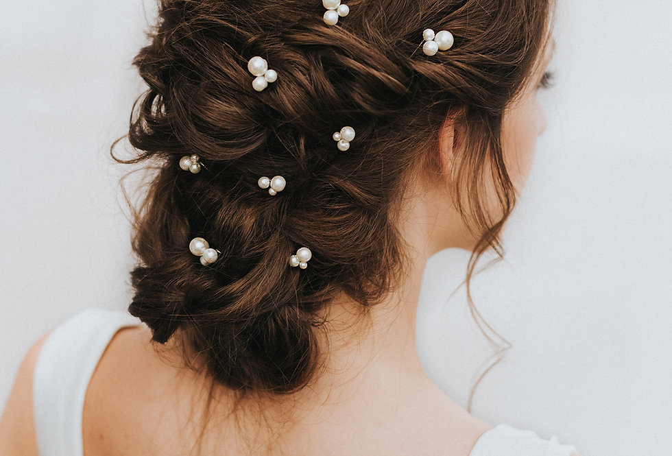 """Lustre"" Bridal Hair Pin"