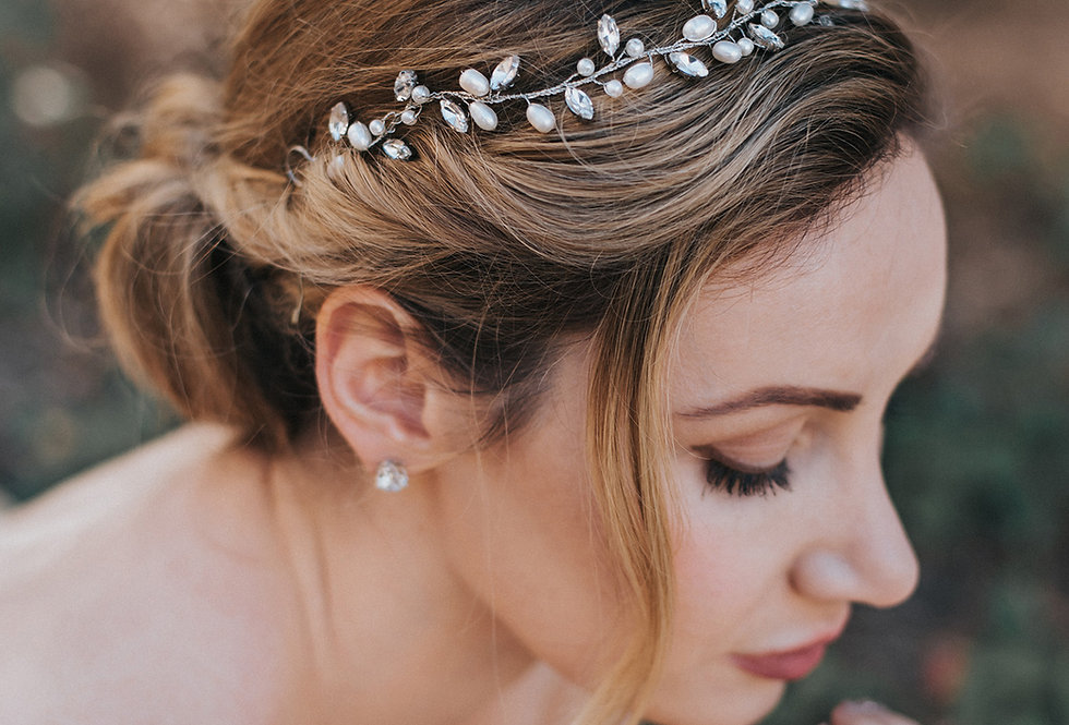 """Gwen"" Bridal Hair Vine Headband"