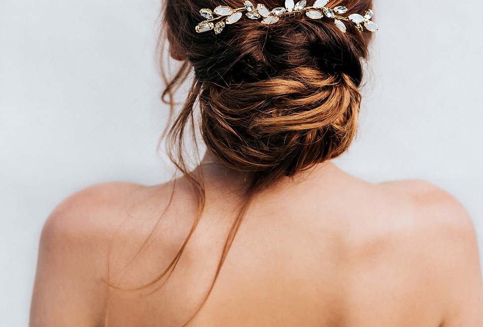 """""""April"""" Large Bridal Hair Comb"""
