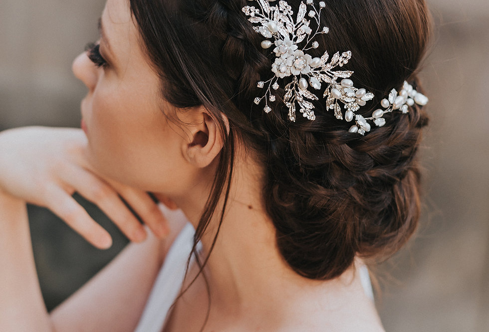 """Abigail"" Bridal Hair Vine"