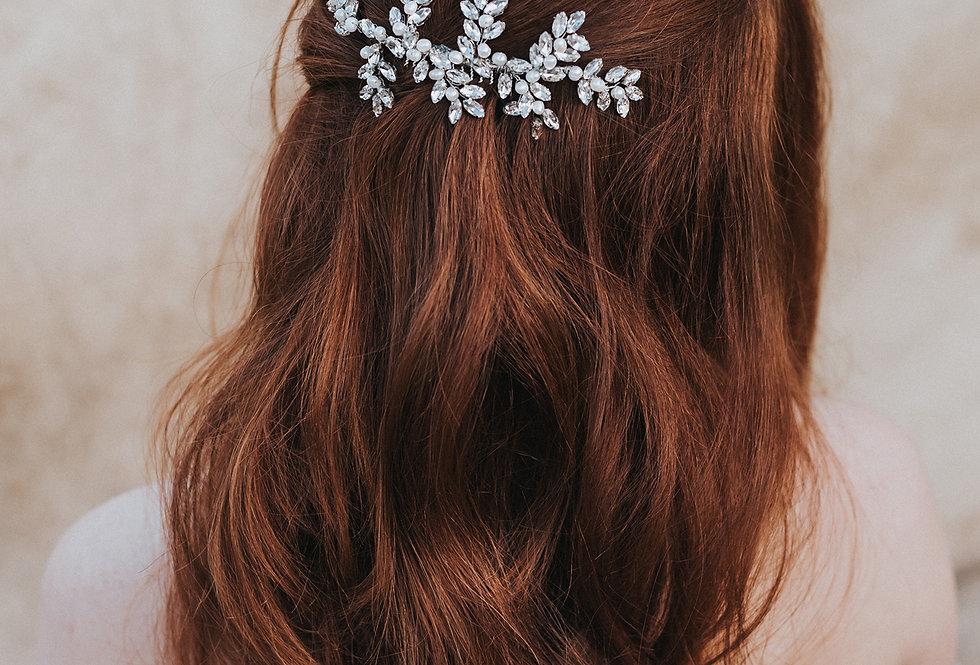 """Genevieve"" Rhinestone Hair Comb"
