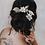 """Thumbnail: """"Estrella"""" Flower Hair Comb Set"""