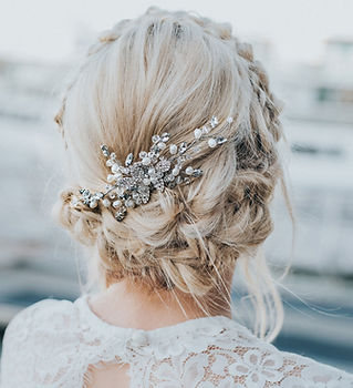 Katya Small Beaded Bridal Hair Comb 2-mi