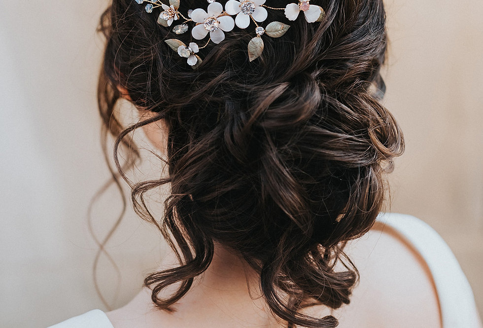 """Francesca"" Flower Hair Comb"