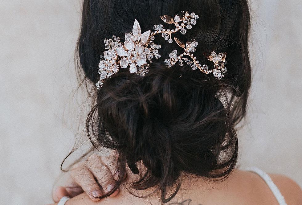 """""""Aviva"""" Bridal Hair Comb Vine"""
