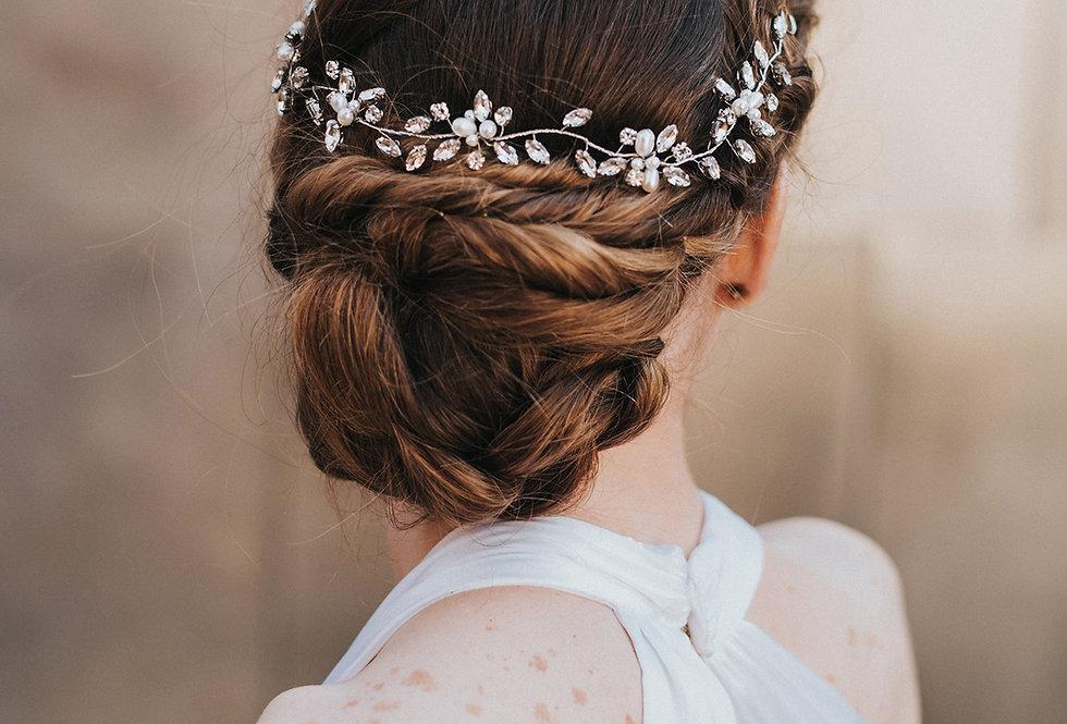 """Brooklyn"" Bridal Hair Vine"