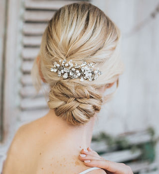 Danielle Large Beaded Bridal Hair Comb.j