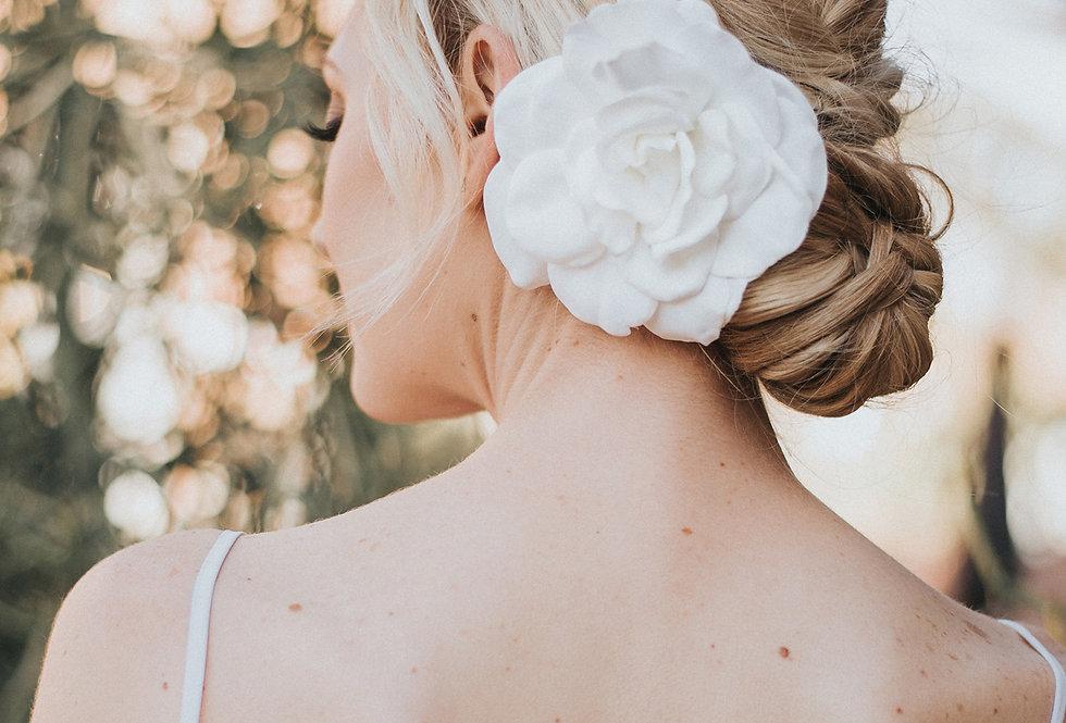 """Flora"" Real Feel Gardenia Bridal Hair Flower"