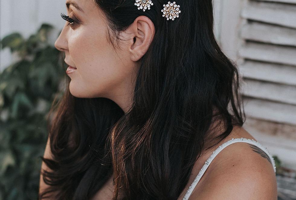 """""""Estrella""""  Starburst Hair Pin Set"""