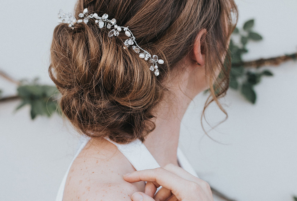 """""""Stacy"""" Beaded Hair Comb"""