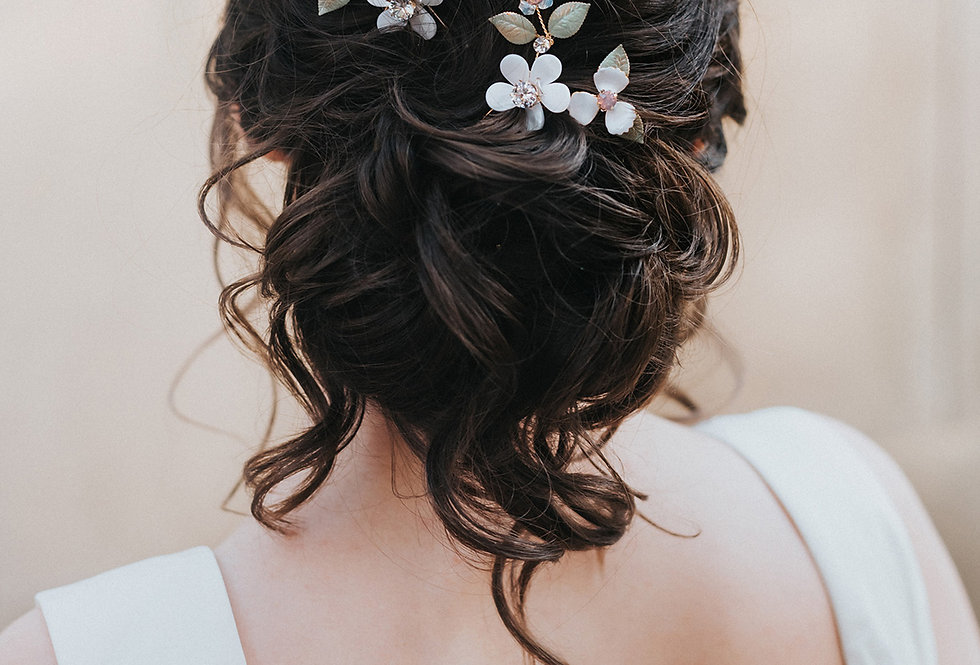 """Francesca"" Flower Hair Pin"