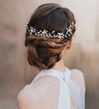 Brooklyn Rhinestone Pearl Bridal Hair Vi