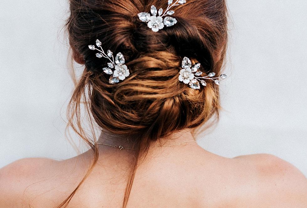 """""""Kimber"""" Small Bridal Hair Pins"""