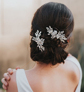 Abigail Beaded Small Flower Bridal Hair