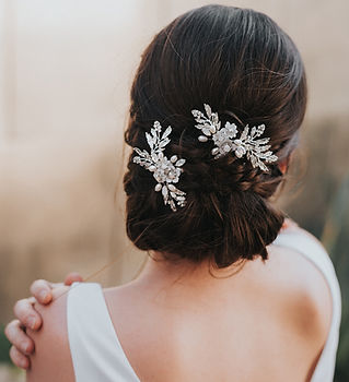 Abigail Beaded Small Flower Bridal Hair