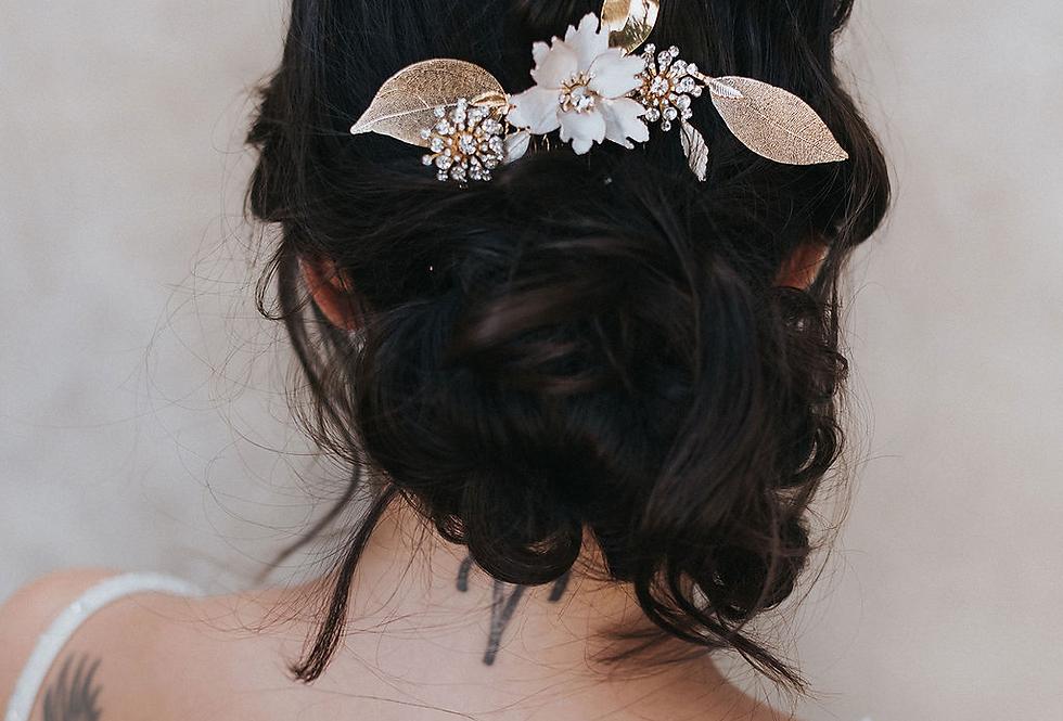 """Estrella"" Medium Flower Hair Comb"