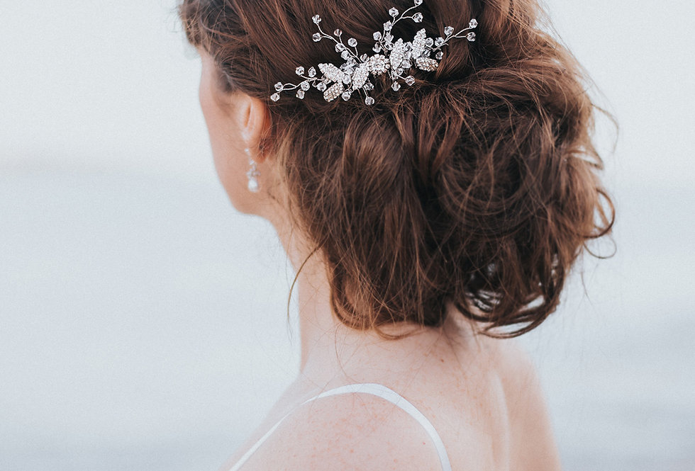 """Charlize"" Beaded Bridal Hair Comb"