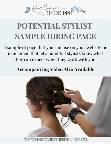 Potential Stylist  Sample hiring Page -