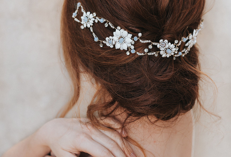 """Brylee"" Bridal Headpiece"