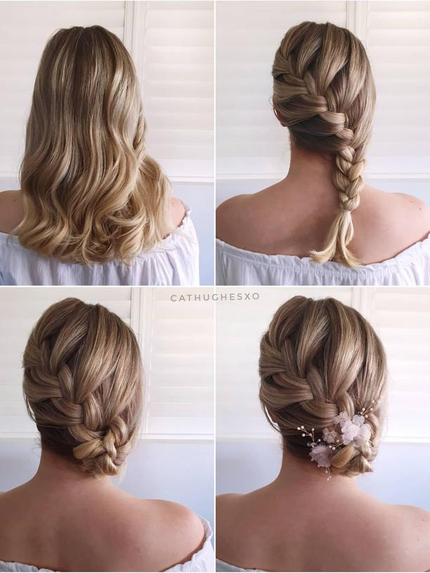 Side Braided Bun Hairstyle