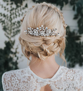 Collette Large Bridal Hair Comb Silver.j
