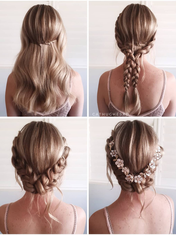Double Braid Low Updo