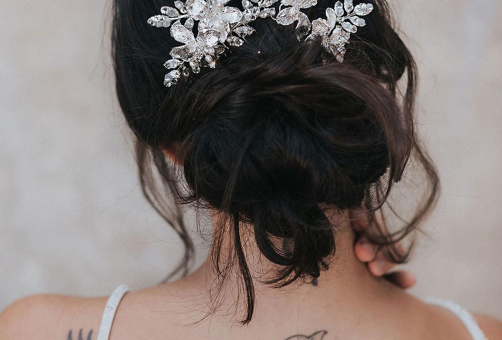 """Lauryn"" Bridal Hair Comb & Pin Set"