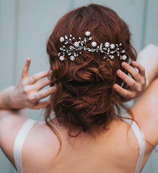 Delilah Large Flower Beaded Hair Comb-mi