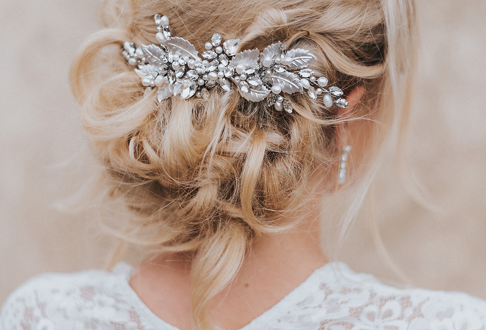 """Bailey"" Medium Bridal  Hair Comb"