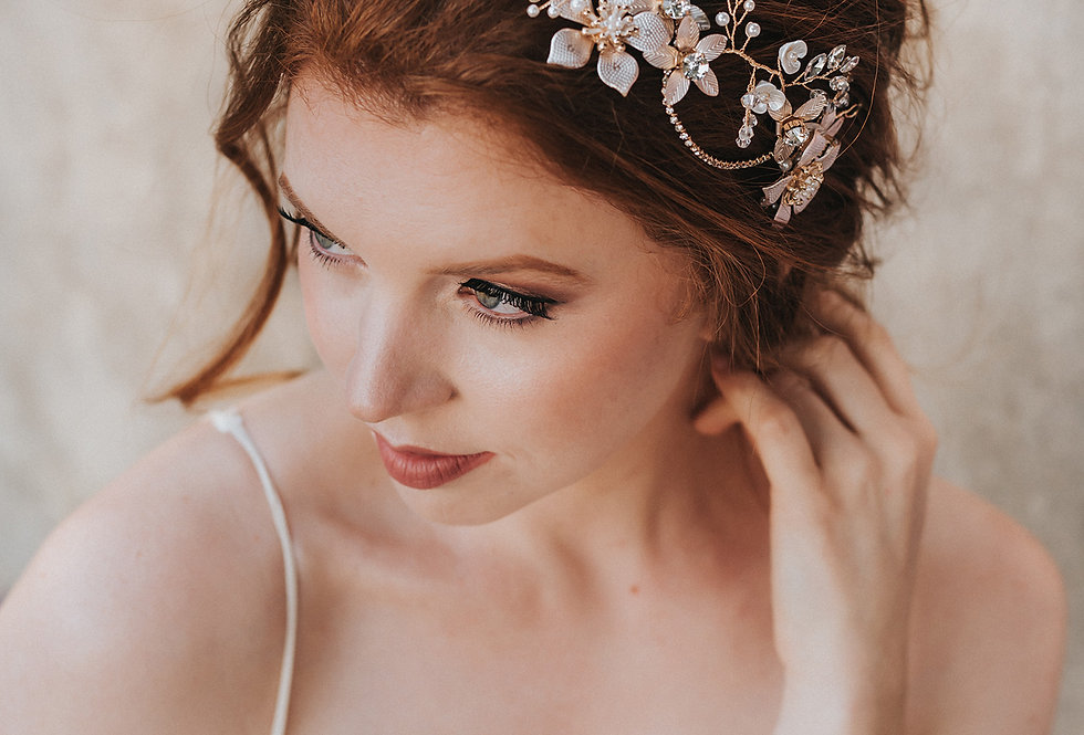 """Analisa"" Bridal Hair Vine Headband"