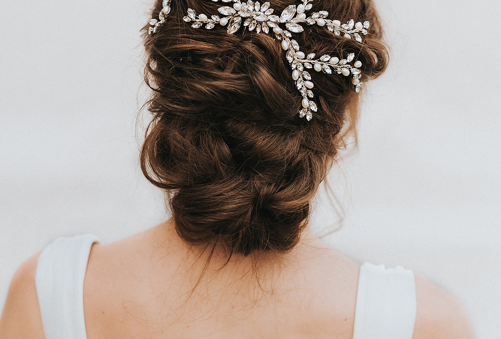 """Magnolia"" Bridal Hair Vine"