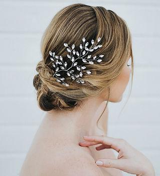 Verena Bridal Hair Vine Rhinestone 3-min