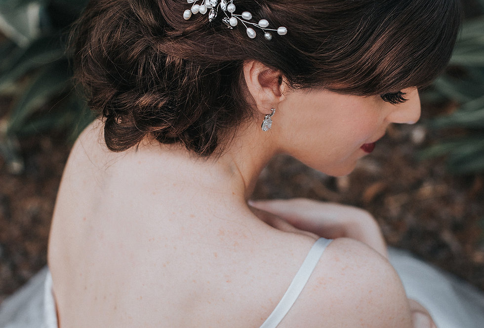 """Jessica"" Medium Bridal Hair Comb"