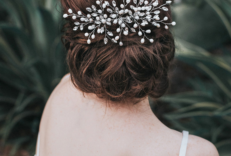 """Jessica"" Large Bridal Hair Comb"