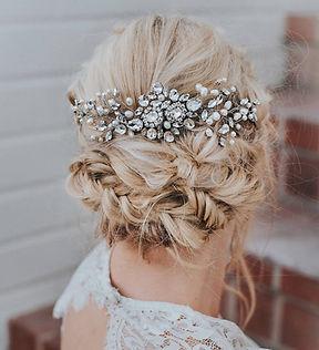 Carmen Large Beaded Boho Bridal Hair Com