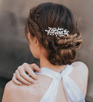 Brooklyn Rhinestone Pearl Bridal Hair Co