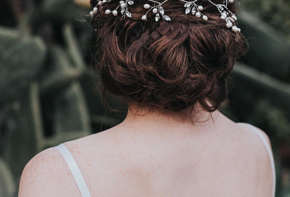 """""""Jessica"""" Bridal Hair Vine"""